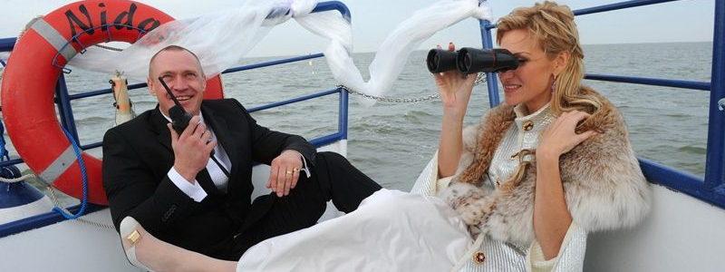 Vestuvės, pokyliai laive